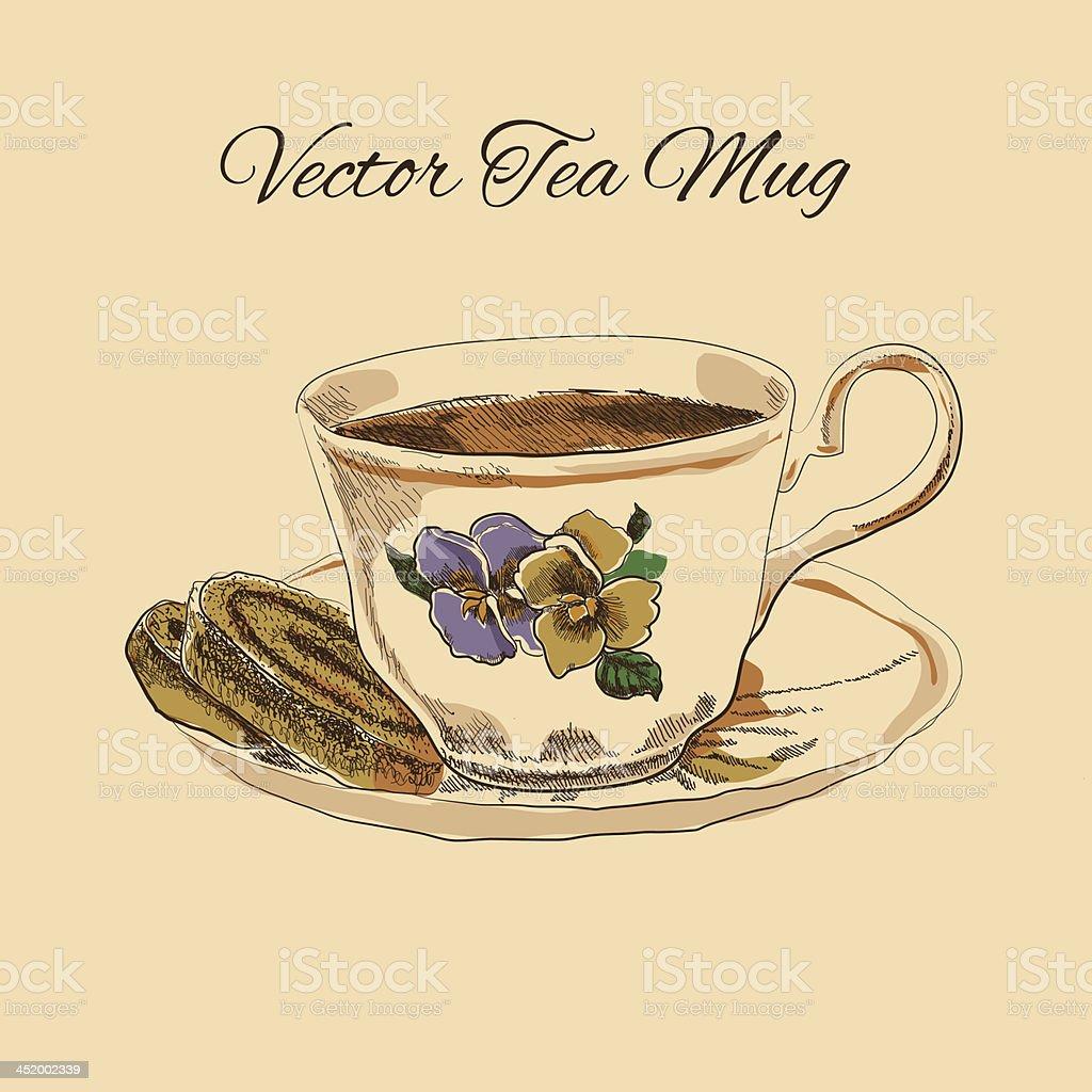 Tetera taza con platillo y pasteler a estilo vintage for Tazas de te estilo vintage