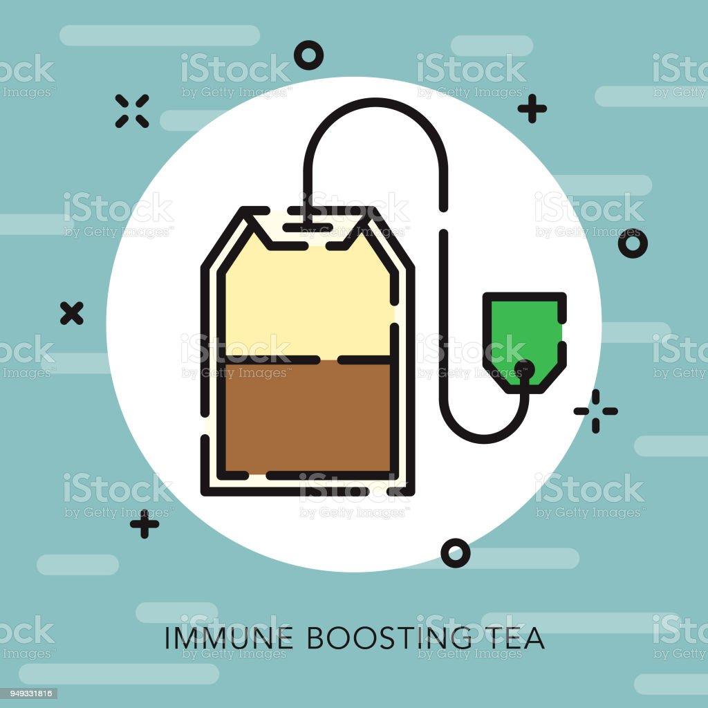 Tea Open Outline Naturopathy Icon vector art illustration
