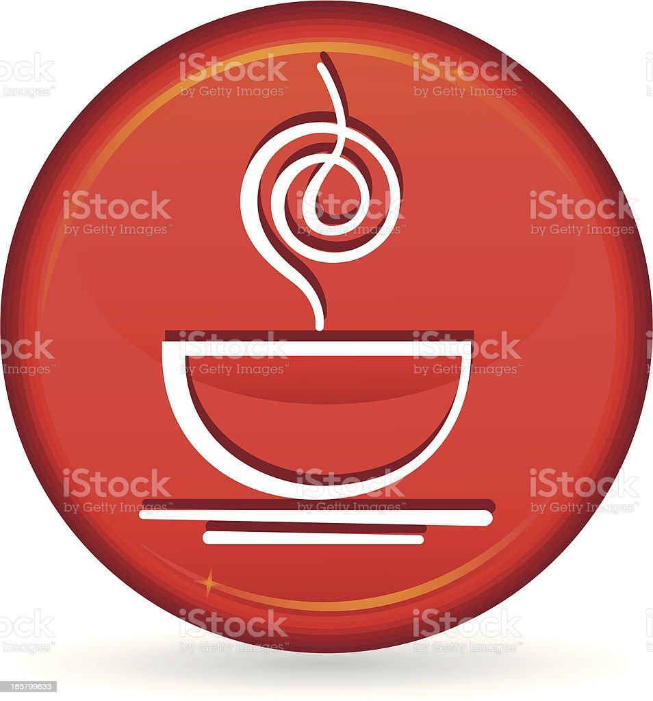 tea or coffee cup icon royalty-free stock vector art