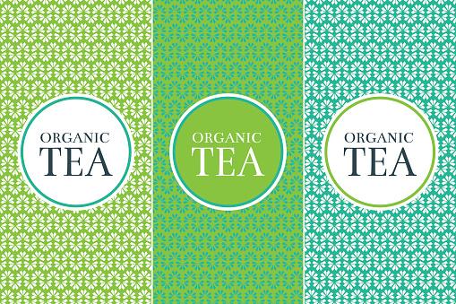 Tea Package set template vector