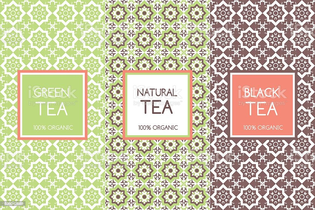Tea packaging templates vector vector art illustration