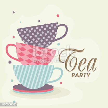 Tea Party Invitation Card Stock Vector Art & More Images ...
