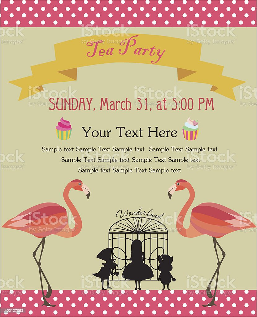 A Tea Party Invitation Template stock vector art 453107093 | iStock