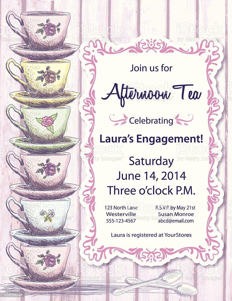 best tea party illustrations  royalty