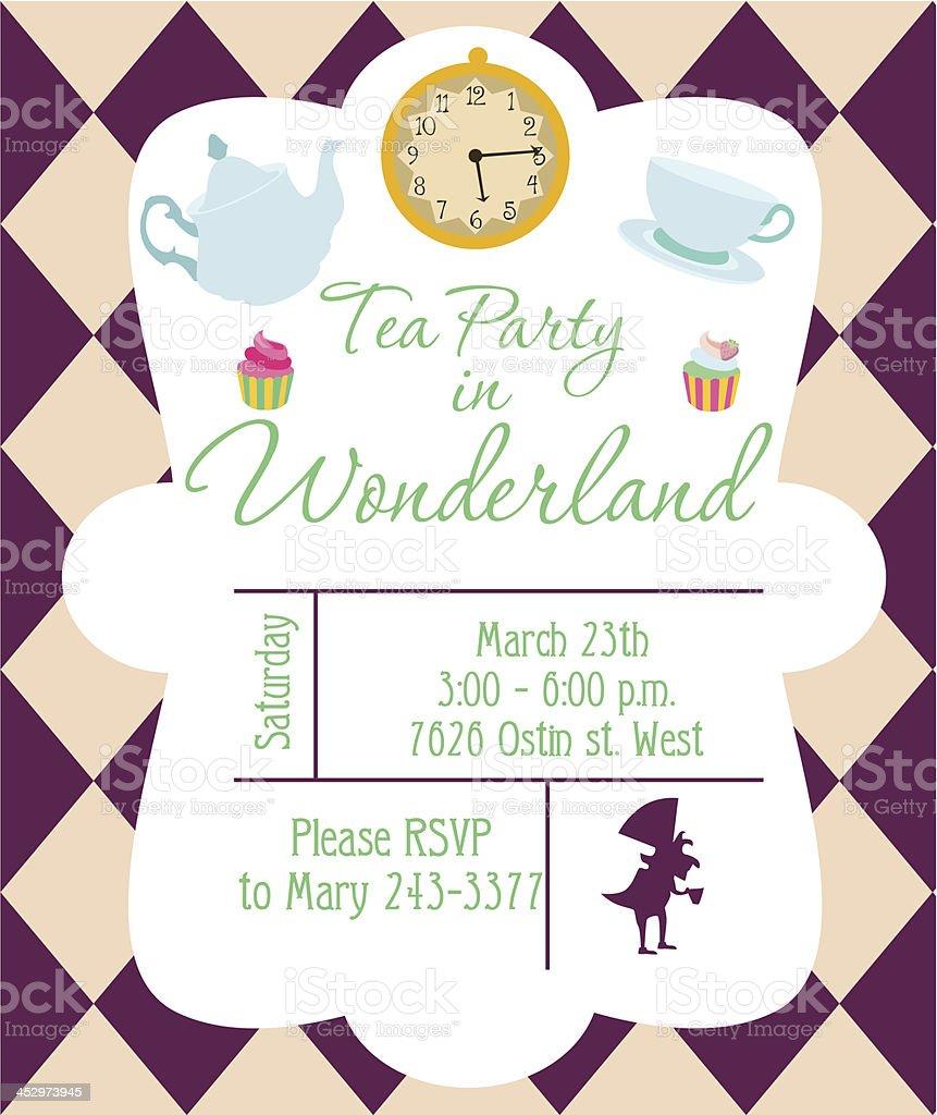 Invito Festa di tè - illustrazione arte vettoriale