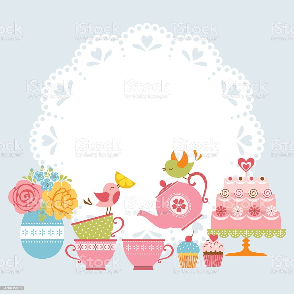 List of Synonyms and Antonyms of the Word: high tea clip art
