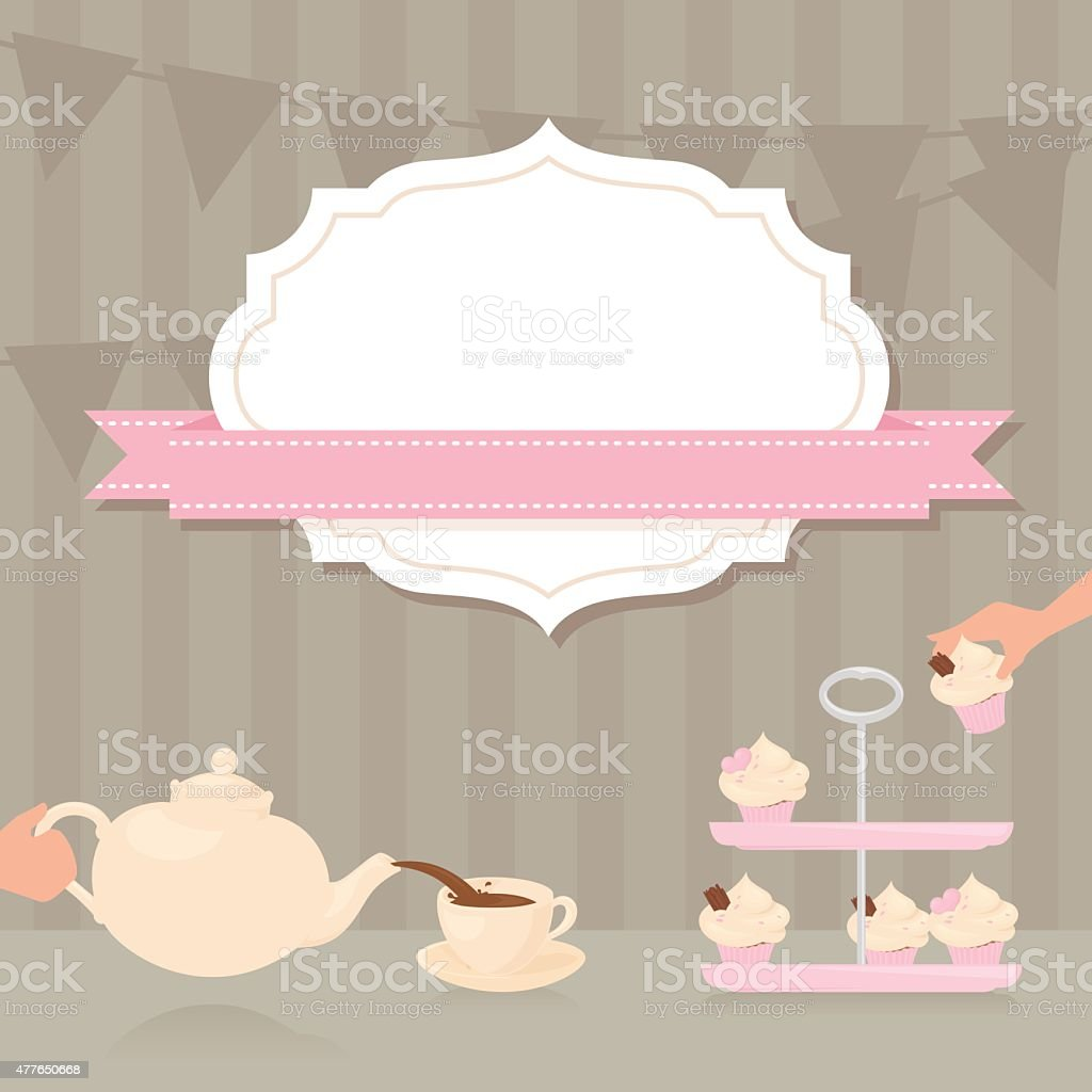 Tea party invitation stock vector art more images of 2015 tea party invitation royalty free tea party invitation stock vector art amp more images stopboris Images