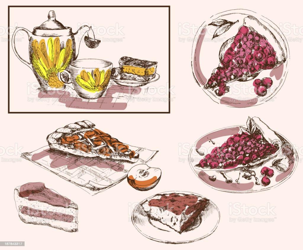 tea party royalty-free stock vector art