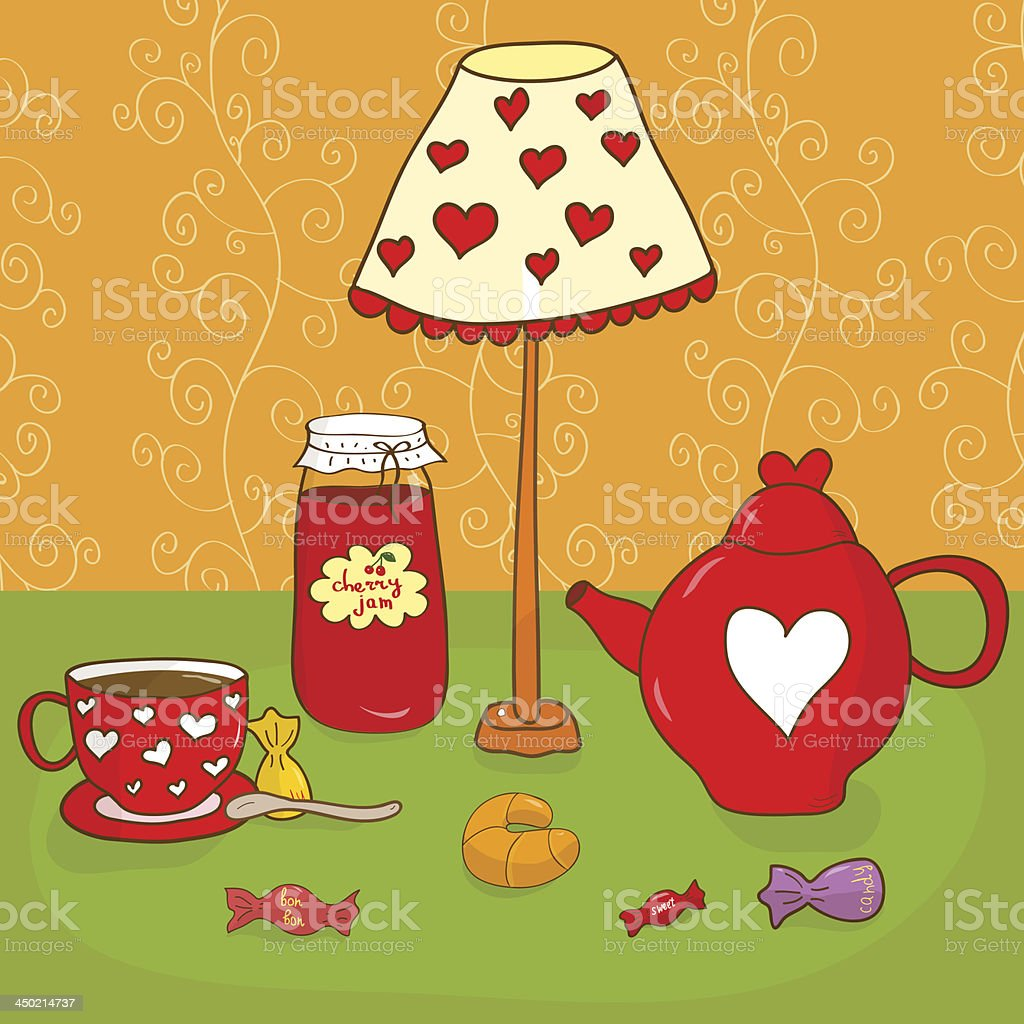 Tea party royalty-free tea party stock vector art & more images of backgrounds