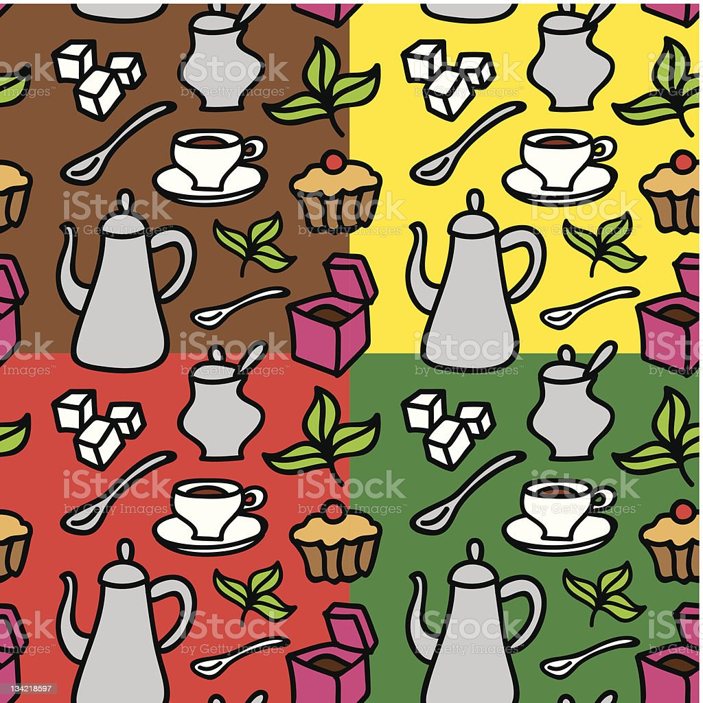tea seamless pattern royalty-free tea seamless pattern stock vector art & more images of backgrounds