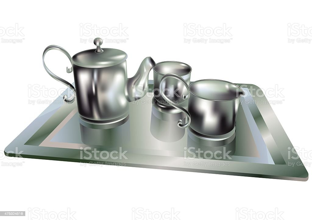 Silver Tea Set Clip Art