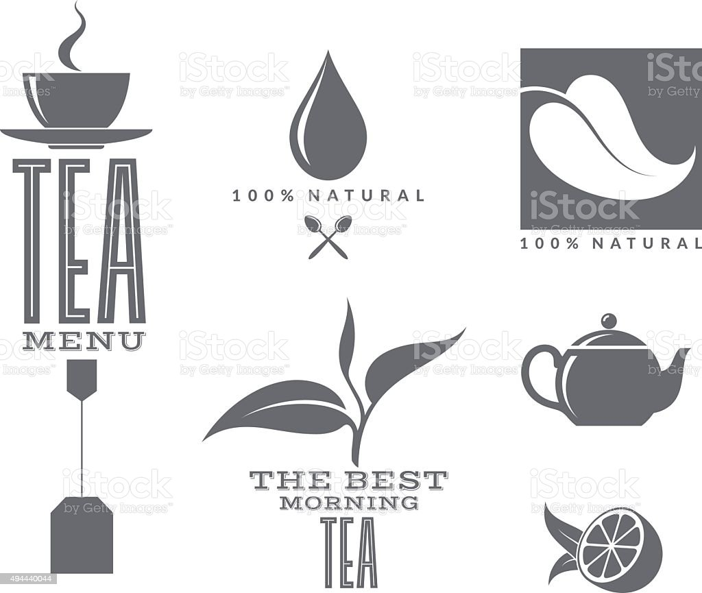 Tea. Set vector art illustration