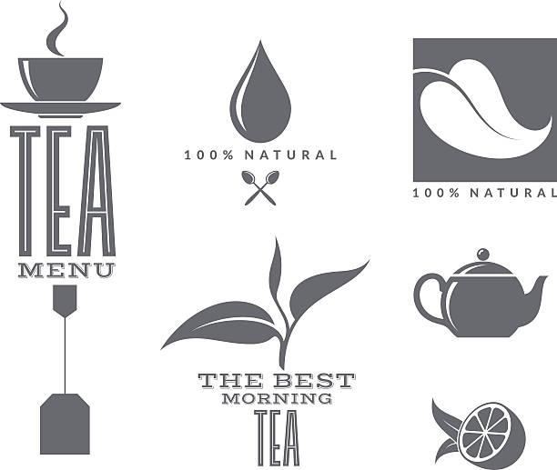 illustrazioni stock, clip art, cartoni animati e icone di tendenza di tè. set di - camellia sinensis