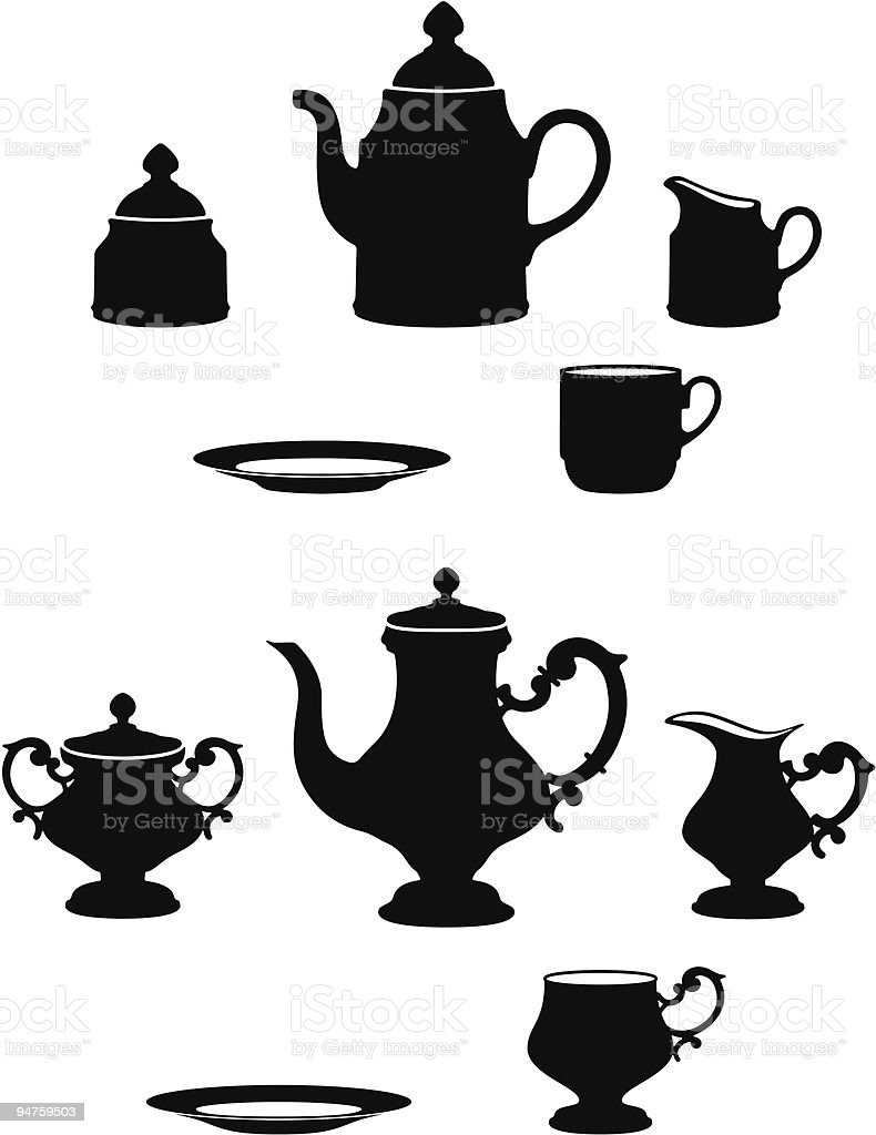 Tea sets royalty-free tea sets stock vector art & more images of afternoon tea