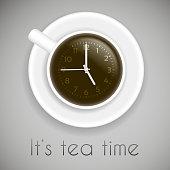 tea time theme on white background