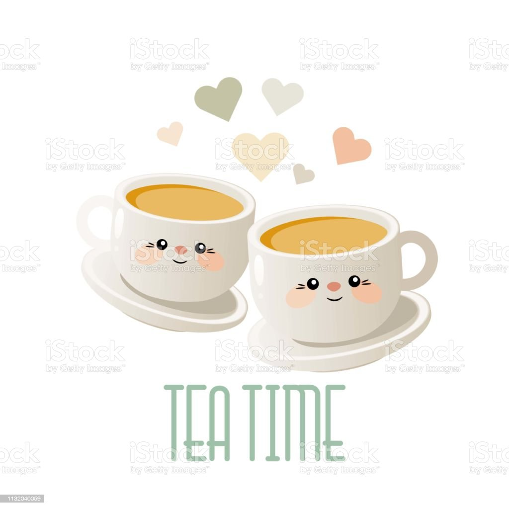 tea time cute illustration with two cups of tea vector stock illustration download image now istock tea time cute illustration with two cups of tea vector stock illustration download image now istock