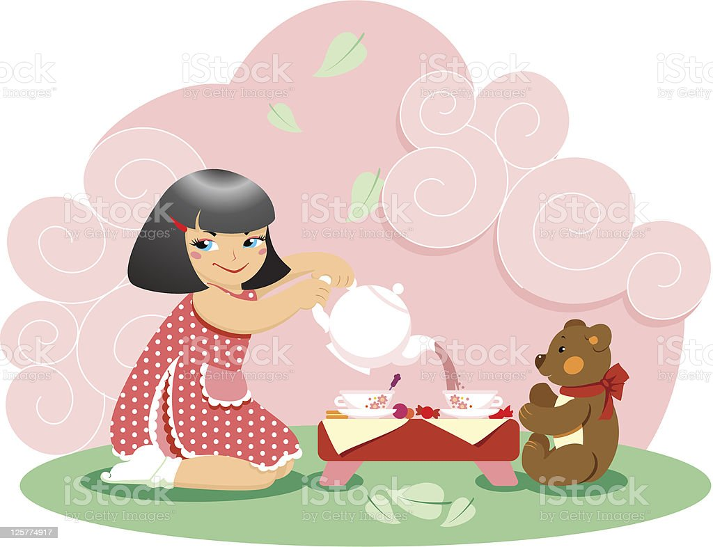 Tea Time royalty-free tea time stock vector art & more images of baby