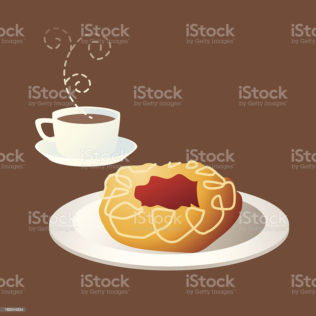 Tea time (1) royalty-free stock vector art