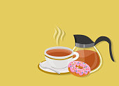 Tea time with donut