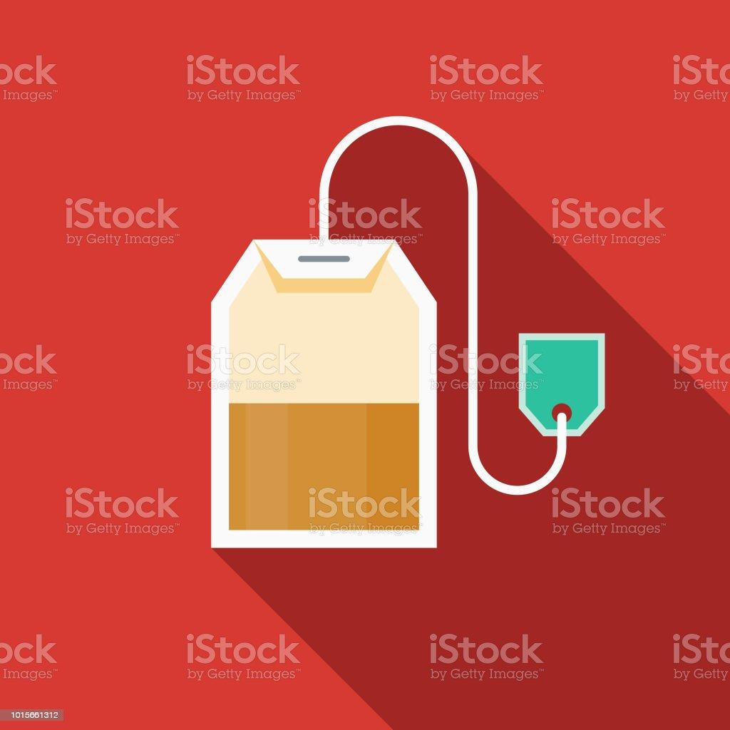 Teabag Flat Design Breakfast Icon vector art illustration