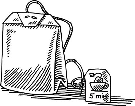 Teabag Label Drawing