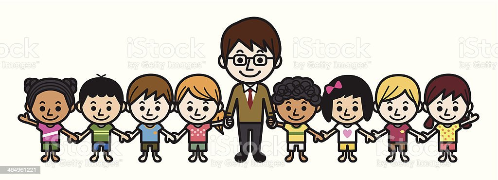 Teacher And Elementary Students Stock Vector Art & More ...
