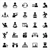 Teacher and Student Education Icons