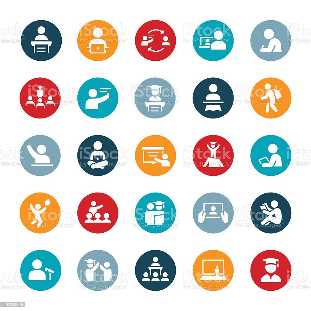 teacher and student icons stock vector art  u0026 more images