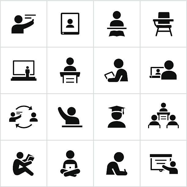 教師とスチューデントアイコン - 作文の授業点のイラスト素材/クリップアート素材/マンガ素材/アイコン素材