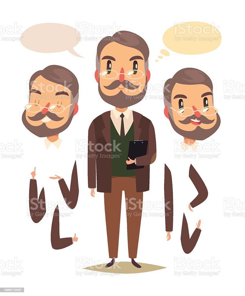Teacher character vector art illustration