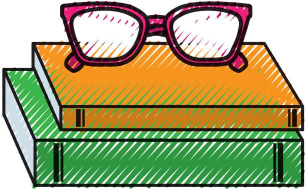 teacher day school book and glasses celebration - thank you teacher stock illustrations, clip art, cartoons, & icons