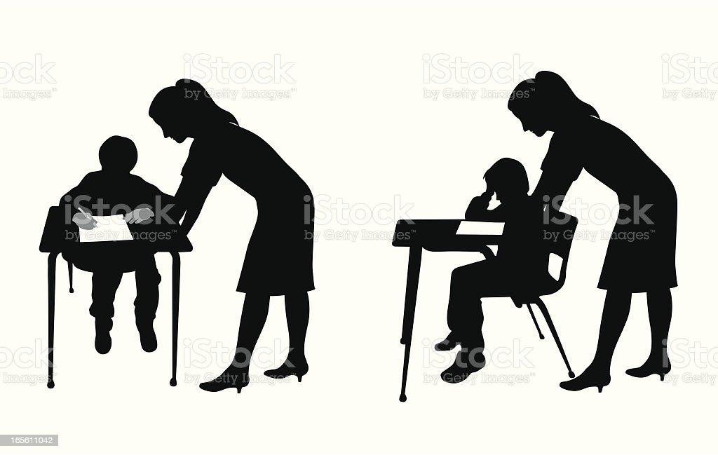 royalty free stressed teacher clip art vector images rh istockphoto com Student Homework Student On Computer Clip Art