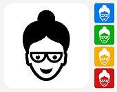 Teacher Icon Flat Graphic Design