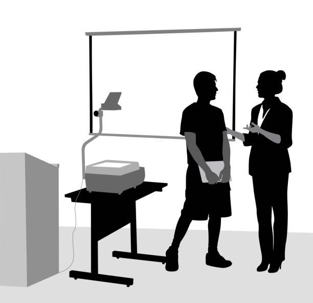 Lehrer-Präsentation-Beratung – Vektorgrafik