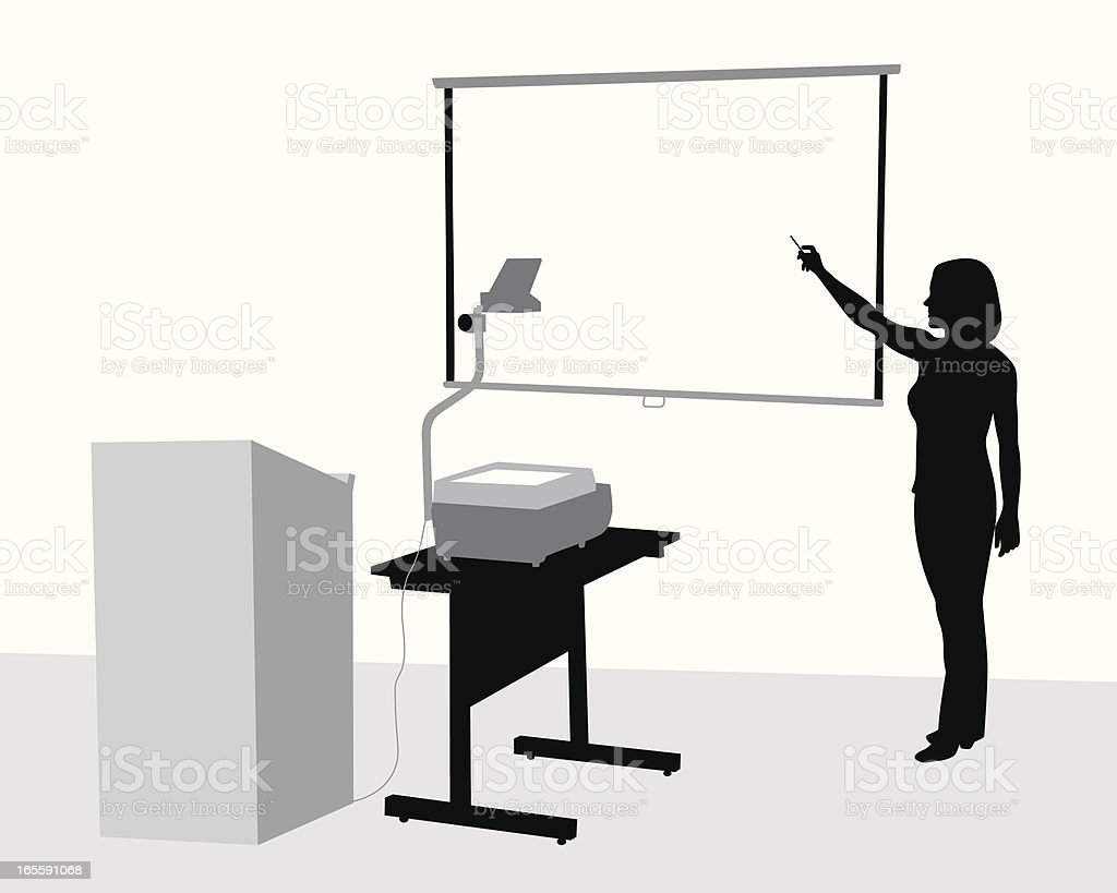 Teacher Presentation Vector Silhouette royalty-free stock vector art