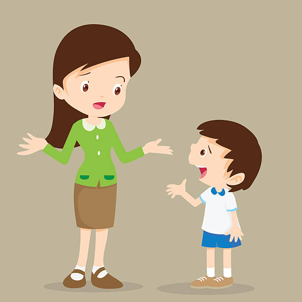 Royalty Free Kids Talking Clip Art, Vector Images ...