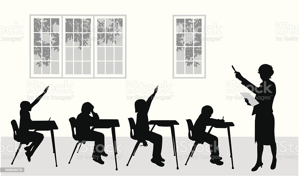 Teacher Teacher Vector Silhouette vector art illustration
