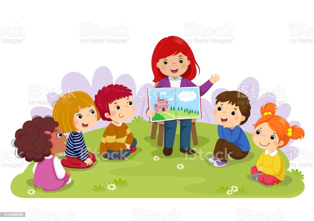 Professora Contando Uma Hist%C3%B3ria Para Crian%C3%A7as Do Ber%C3%A7%C3%A1rio No Jardim Gm916389996 252163717 on Preschool Storytime