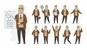 Teacher - vector cartoon people character set
