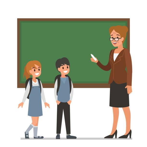 stockillustraties, clipart, cartoons en iconen met leraar - schooluniform