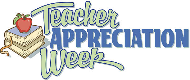Teacher Week Heading C vector art illustration