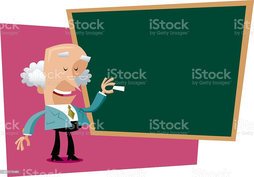 Teacher..about to teach.. royalty-free stock vector art