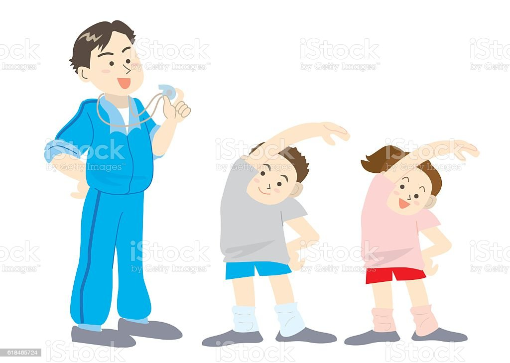 royalty free physical education class clip art vector