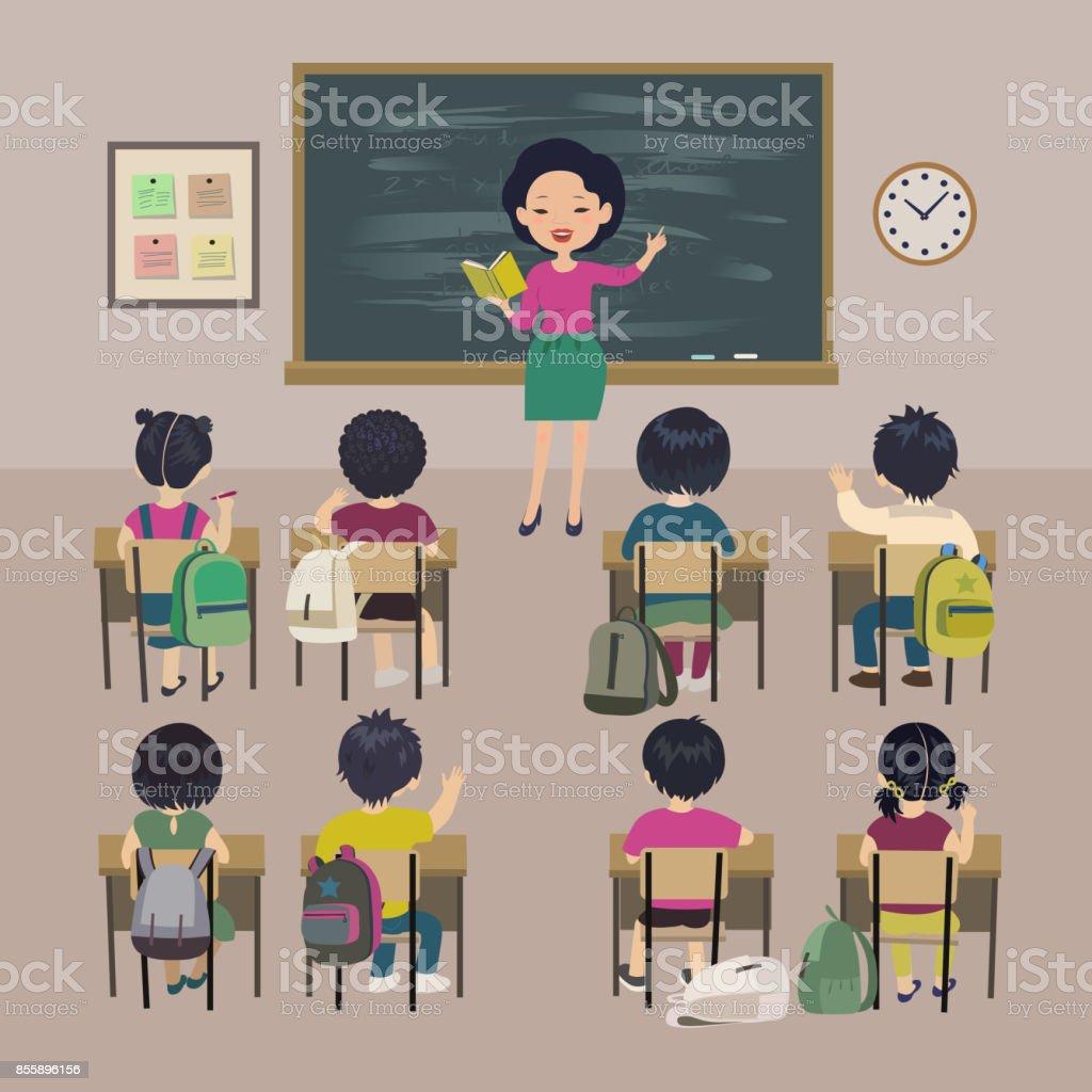Ilustración de Fondo De Día Maestros Lección De La Escuela Poco Los ...
