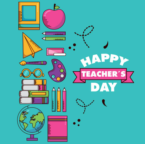 teachers day card vector art illustration