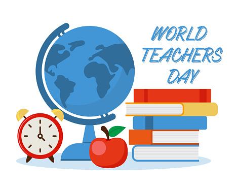 Teachers day celebration. Happy Teachers Day. Vector illustration in flat style