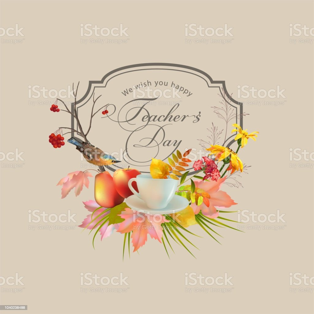 Teachers Day Greeting Card Stock Vector Art More Images Of