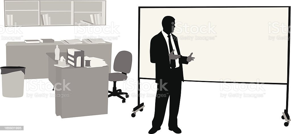 Teaching Vector Silhouette royalty-free stock vector art