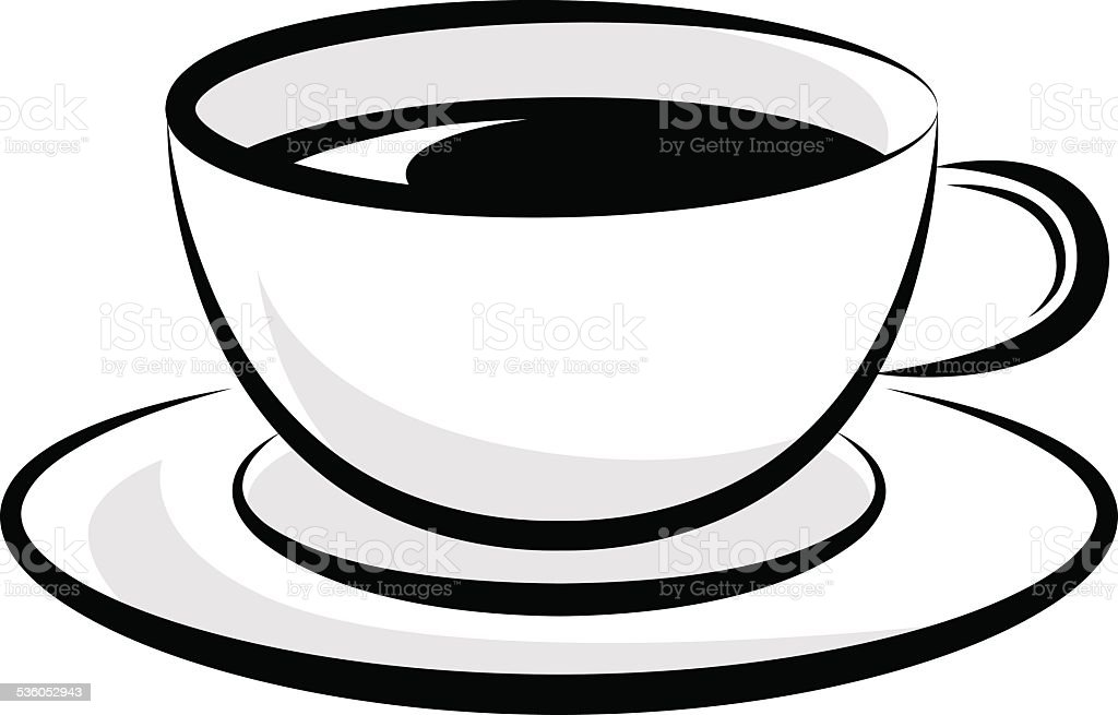 royalty free clip art of tea cup plate clip art vector images rh istockphoto com cup clipart png cup clipart outline