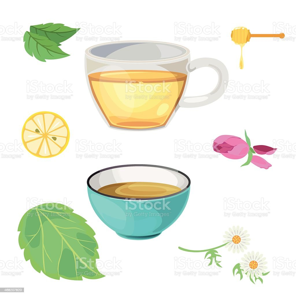 tea-glass vector art illustration